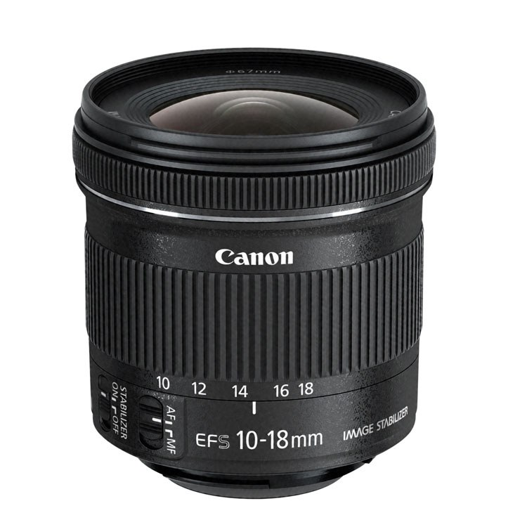 Objetiva CANON EF-S 10-18MM 4.5-5.6 IS STM (Encaixe: Canon EF-S - Abertura: f22-29 - f/4.5-5.6)