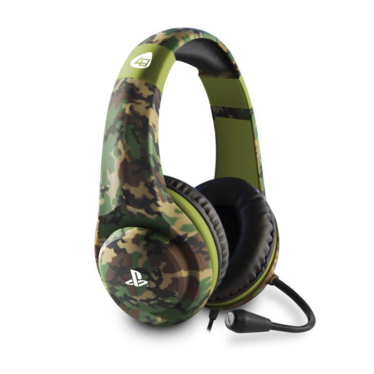 Auscultadores Gaming PRO4-70 4Gamers para Ps4 - Camo Wooland Edition